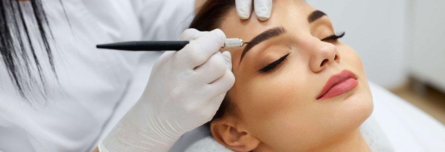 maquillage durable  des sourcils