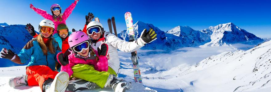 Pratique de sports d'hiver